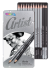 Set of 12 Sketching Pencils Artist Colorino