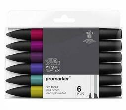 Winsor & Newton Promarker Set of 6 Rich Tones
